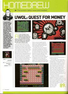 Uwol, Quest Of Money en retrogamer